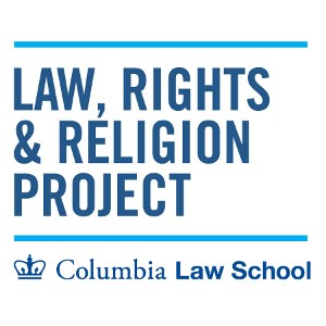 Logo for the Law, Rights, and Religion Project, featuring the Project name, and the Columbia Law School Logo